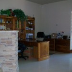 The main house great room has an office with printer, wi-fi and satellite TV